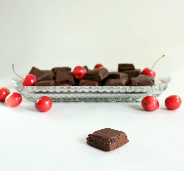fresh chocolate cherry fudge