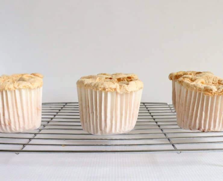 baked angel food cake cupcakes