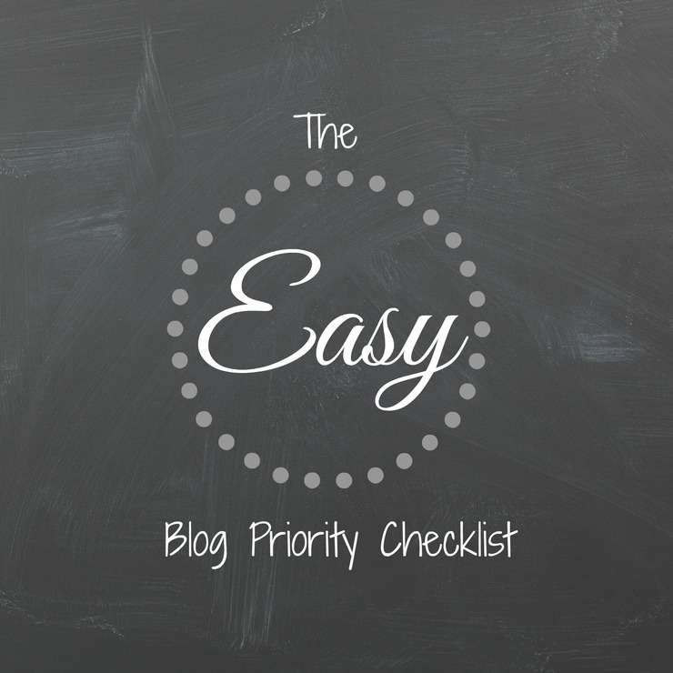 easy blog priority checklist