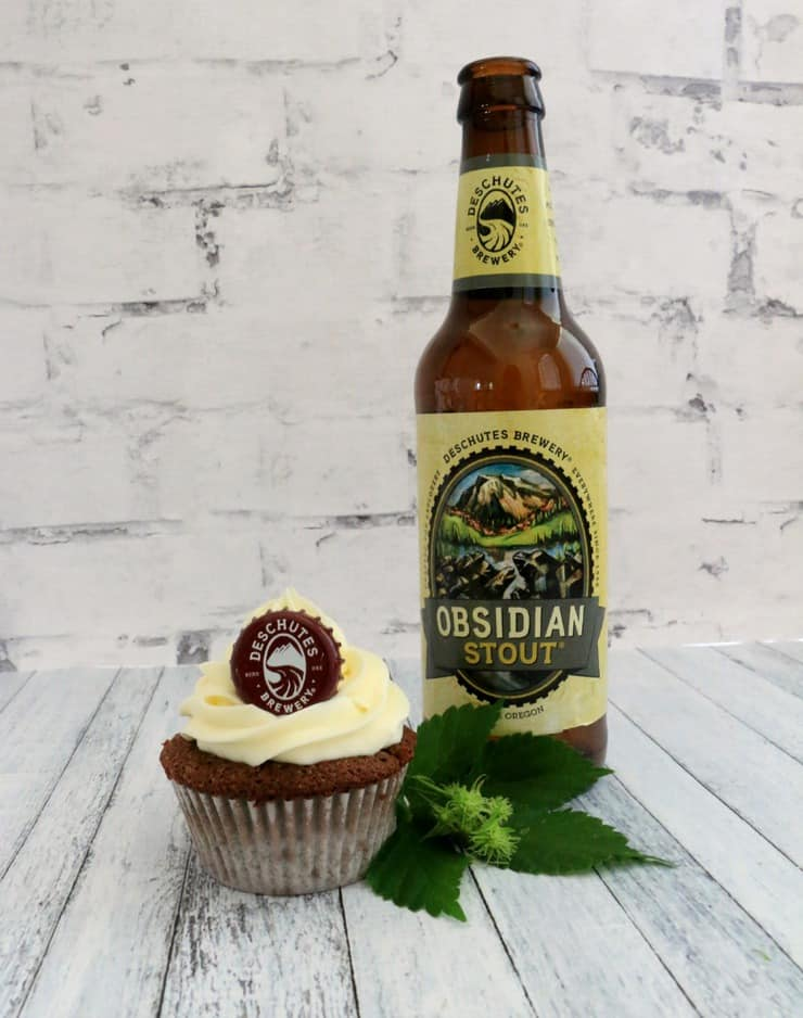 deschutes brewery obsidian stout cupcakes
