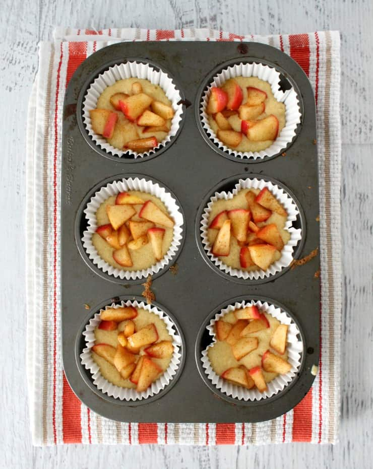 baking vanilla bean apple muffins
