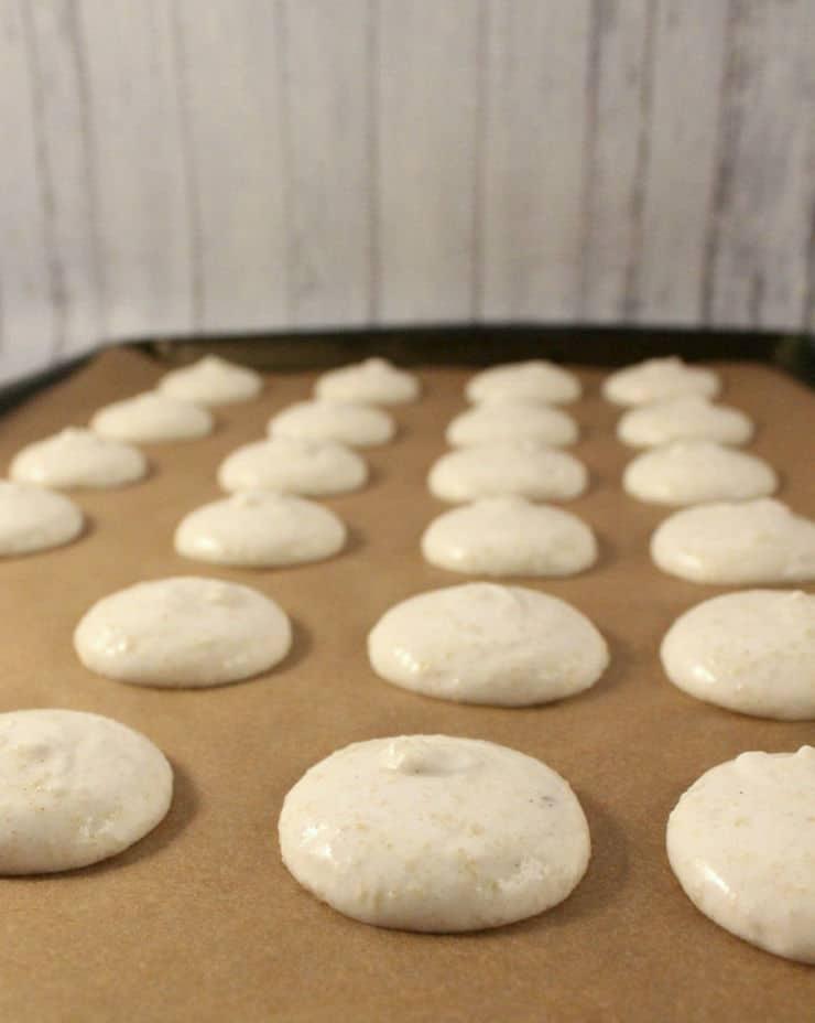 unbaked macaron shells