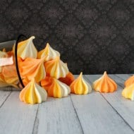 Candy Corn Meringue Swirls