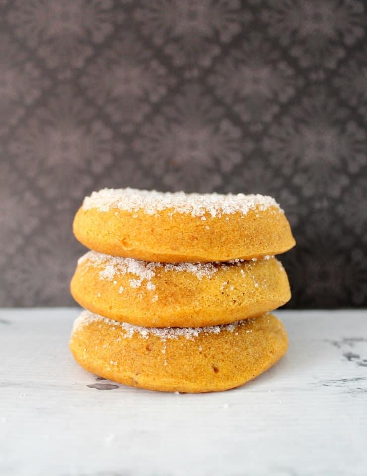 Baked sweet potato doughnuts