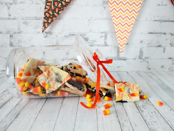 Candy corn oreo bark recipe