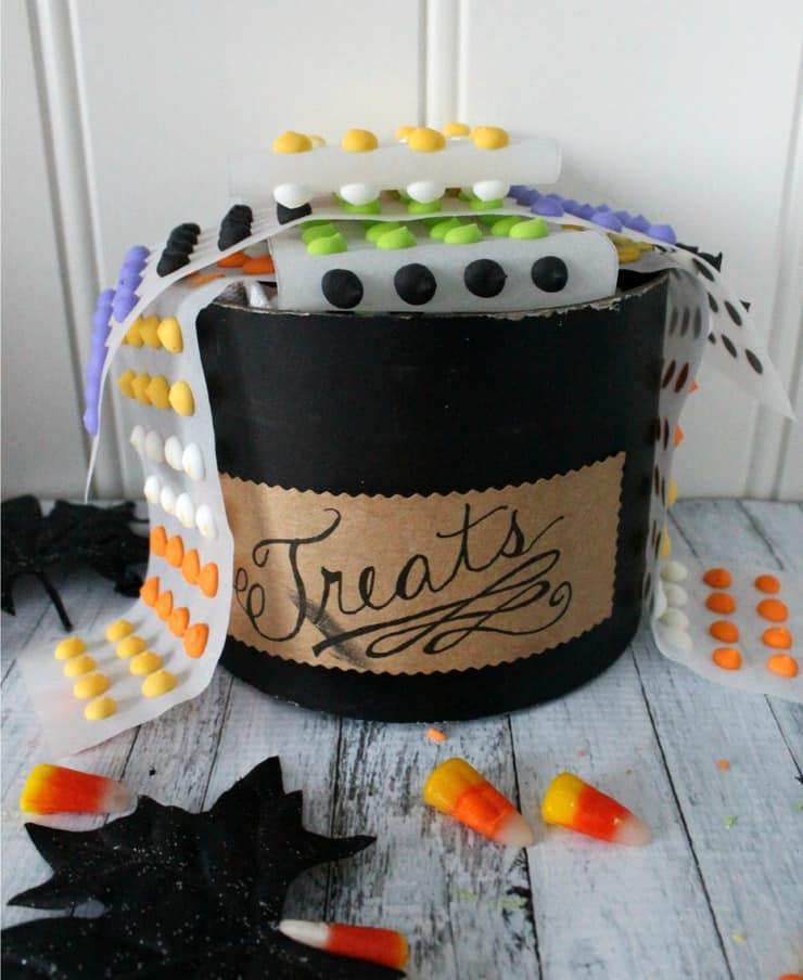Halloween candy buttons