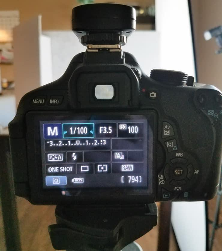 camera settings panel