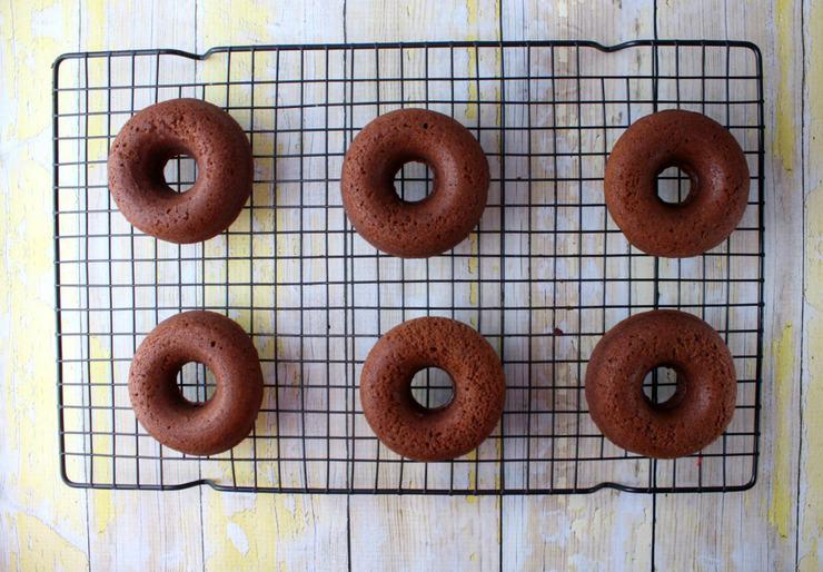 Chocolate baked doughtnuts