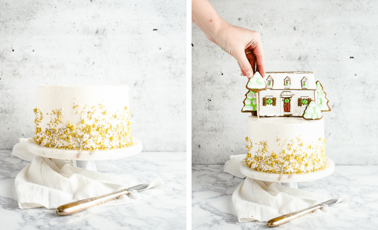 Step-by-step photos for making gingerbread cake