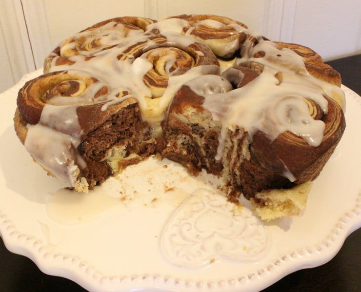 chocolate swirl cinnamon rolls