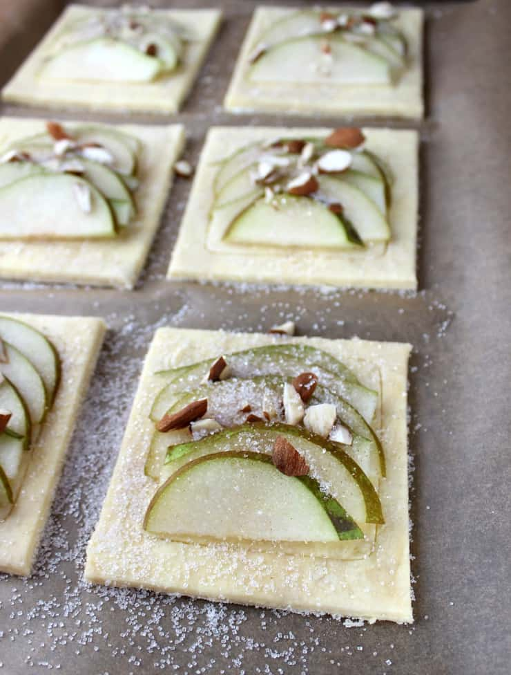 Pear puff pastry