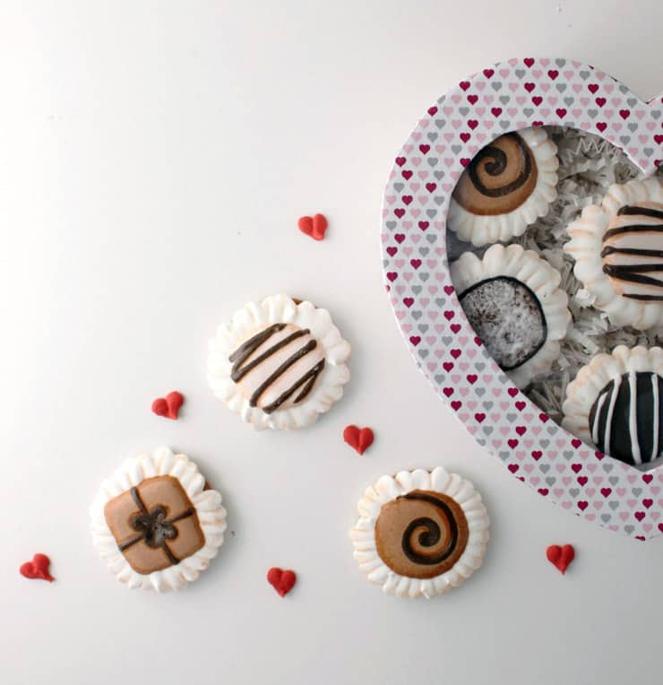 "Surprise your Valentine with these easy ""truffle"" cookies!"
