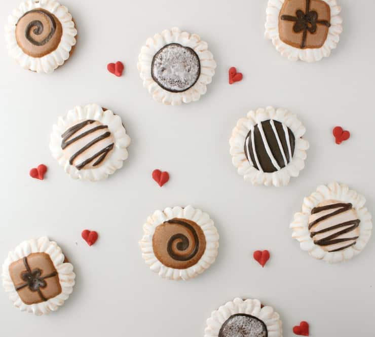 Valentine truffle cookies