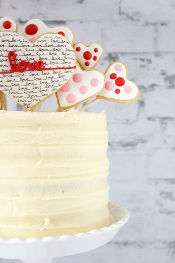 Red velvet valentine cake