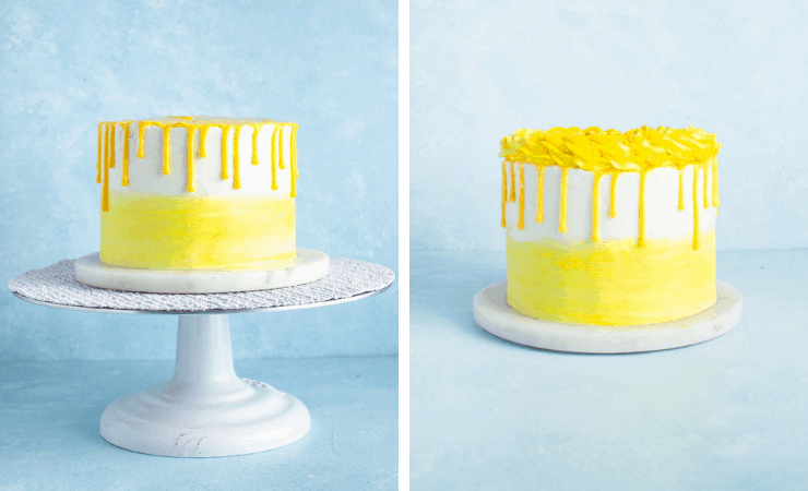 Step-by-step photos for making an easy lemon cake