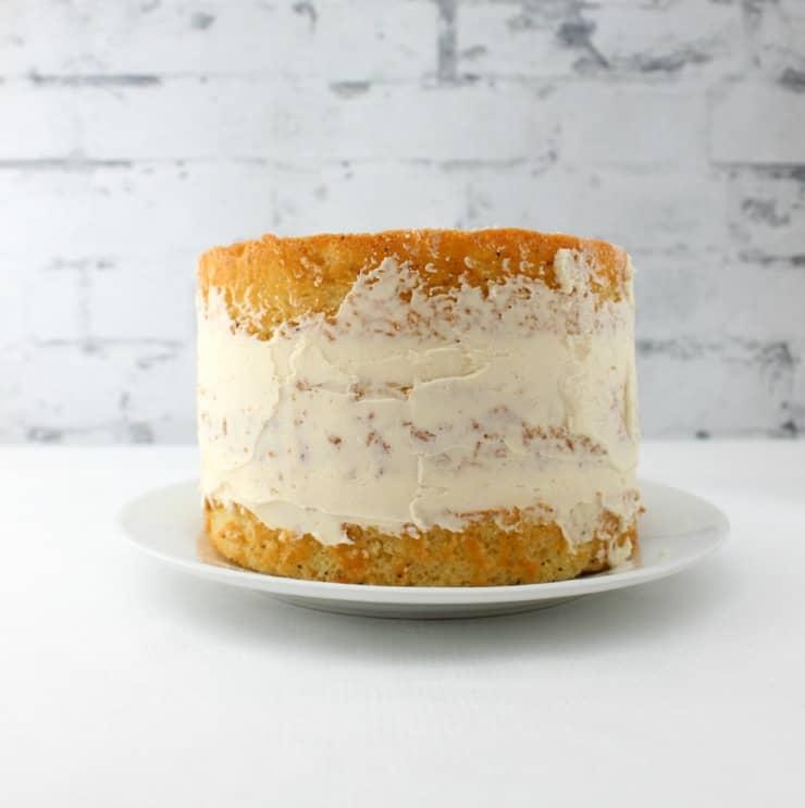 Crumb coating the cake