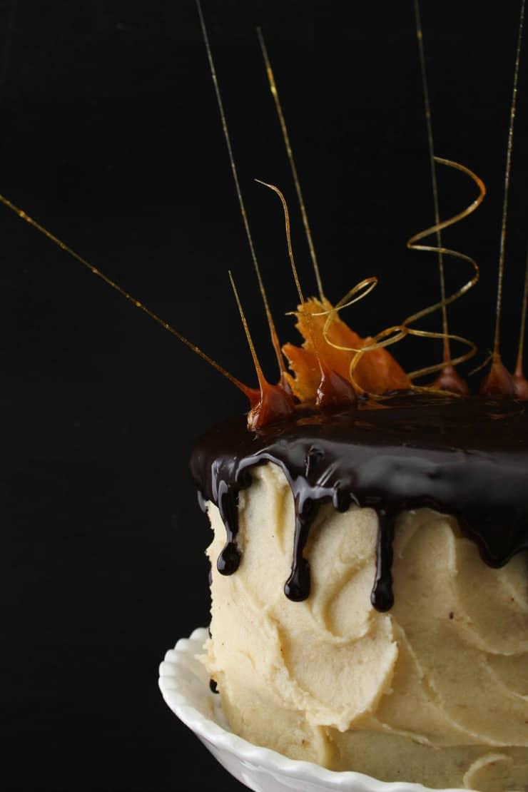 Chocolate banana cream pie cake
