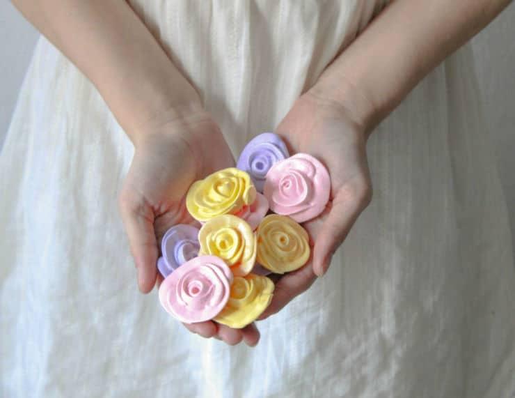 meringue roses