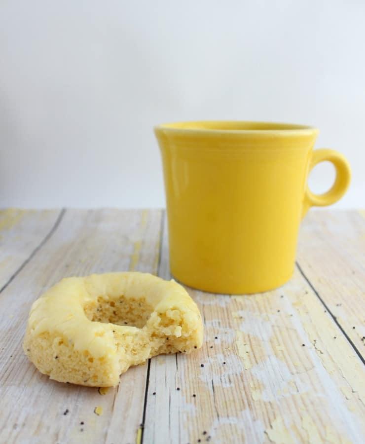 Lemon poppy seed doughnuts with orange glaze