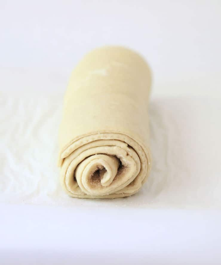 Rolled puff pastry