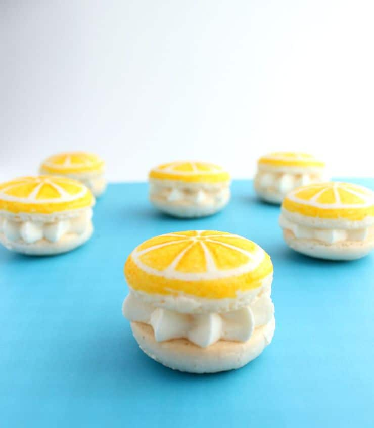 Bright, summery lemon macarons from The Simple, Sweet Life