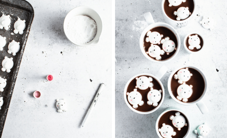 Step-by-step photos for making homemade marshmallows