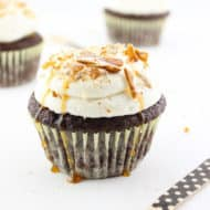 Chocolate Stout Pretzel Cupcakes