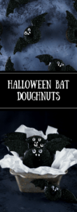 Delight all the little boys and ghouls this Halloween with these easy baked bat doughnuts!