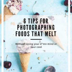 6 tips for photographing foods that melt