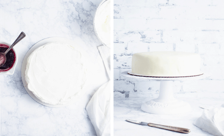 Step-by-step photos for making a marzipan cake