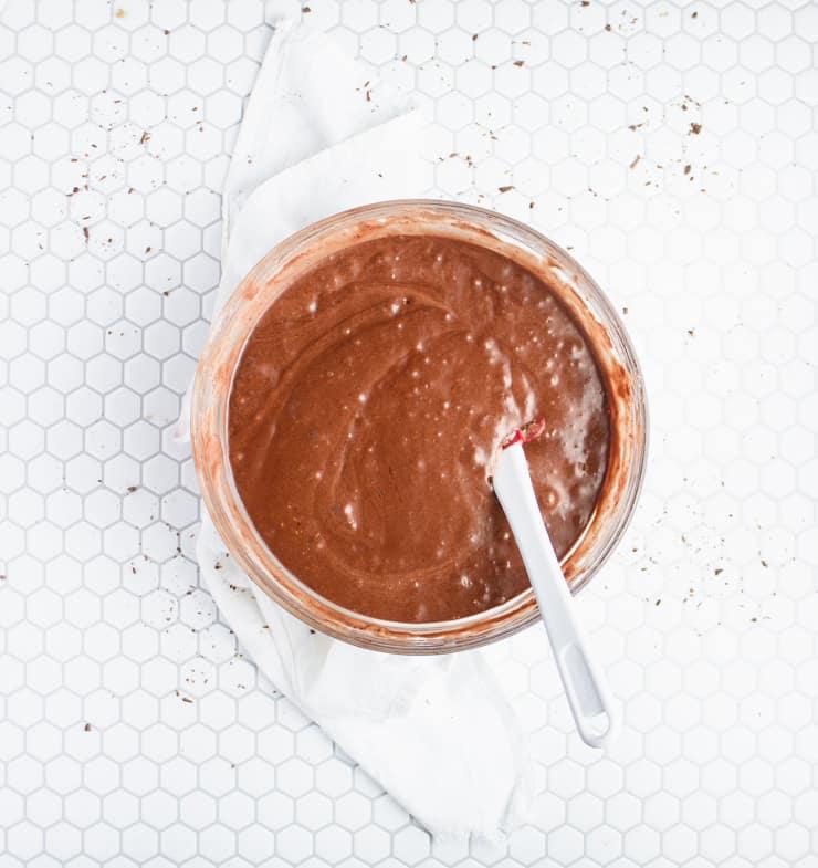 chocolate waffle batter