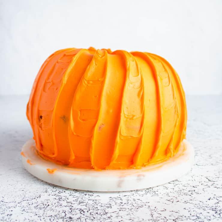 two crumb coated bundt cakes