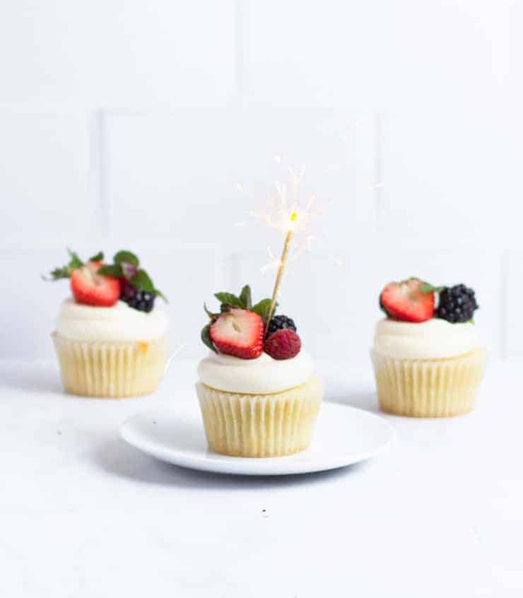 cupcakes with a sparkler